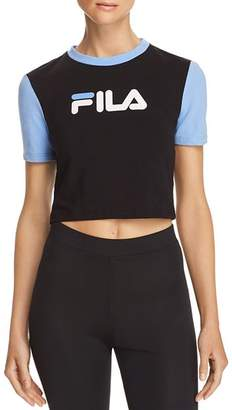 Fila Anna Cropped Color-Block Logo Tee