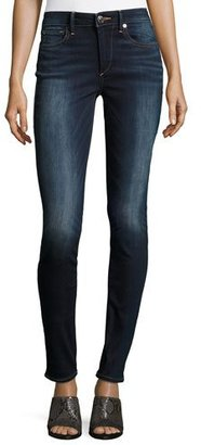 True Religion Jannie Curvy Mid-Rise Skinny Jeans, Native Ora Clean $199 thestylecure.com