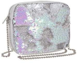 Capelli New York Girl's Sequined Chain Crossbody Bag