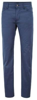 BOSS Hugo Regular-fit jeans in soft-washed stretch cotton 30/32 Open Blue