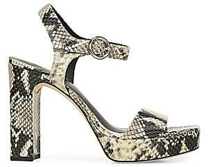 Via Spiga Women's Saville Snake-Embossed Platform Sandals