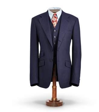 Ralph Lauren Pinstripe Tweed Suit Jacket