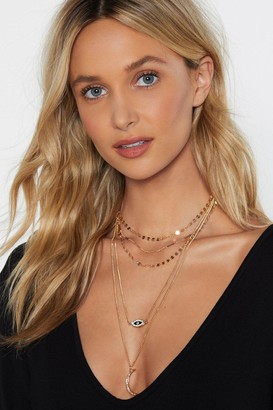Nasty Gal Evil Eye Layered Necklace