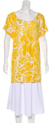 Diane von Furstenberg Adella Silk-Blend Short Sleeve Top