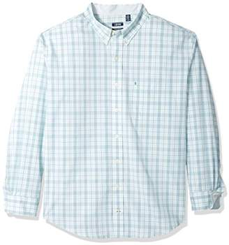 Izod Men's Essential Check Long Sleeve Shirt (Big Tall Slim)