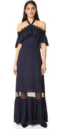 alice + olivia Mitsy Off Shoulder Halter Dress $485 thestylecure.com