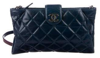 Chanel Caviar Coco Pleats Clutch