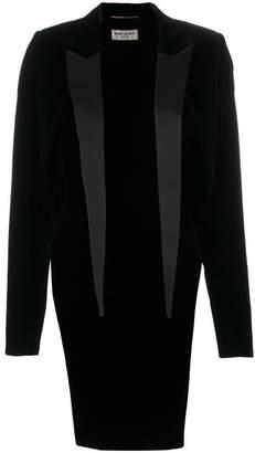 Saint Laurent lapel tailcoat blazer