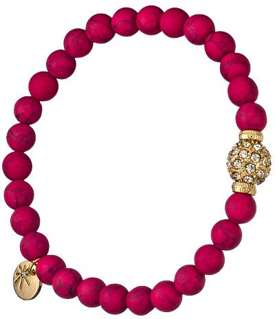 Blu Bijoux Crystal Pink Beaded Stretch Bracelet
