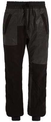 Haider Ackermann Wide-leg cropped leather trousers