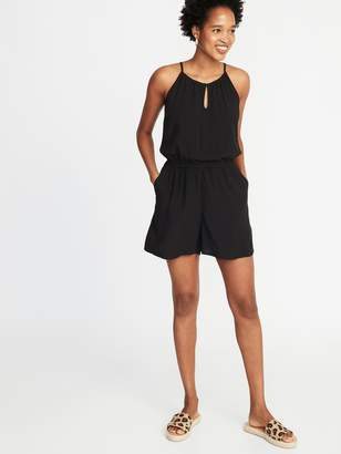 Old Navy Waist-Defined Sleeveless Keyhole Romper for Women