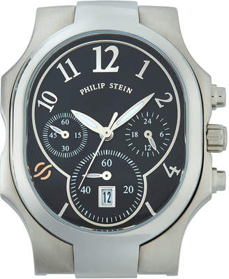 Philip Stein Teslar Classic Chronograph Watch Head, Black