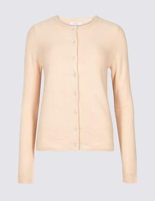 Marks and Spencer Textured Round Neck Cardigan