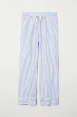 H&M Cotton Pajama Pants - Blue
