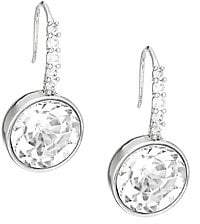 Kate Spade Women's Reflecting Pool Rhodium-Plated Pavé Round Drop Earrings