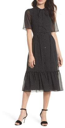 Felicity & Coco Poppy Polka Dot Chiffon Shirtdress
