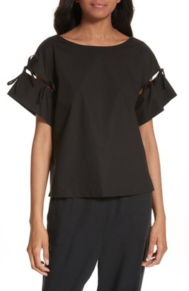 Women's Tracy Reese Tie Sleeve Top $198 thestylecure.com