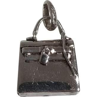 Hermes Kelly silver pendant