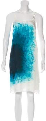 Halston Silk Knee-Length Dress