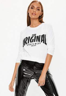 Missguided The Original Long Sleeve Graphic T Shirt