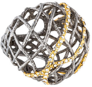 Alexis Bittar Alexis Bittar Crystal Lace Bombe Cocktail Ring