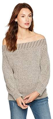 Cable Stitch Women's Marled Off-The-Shoulder Sweater