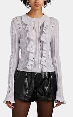 Philosophy di Lorenzo Serafini Women's Ruffle-Trimmed Wool Sweater - Lilac