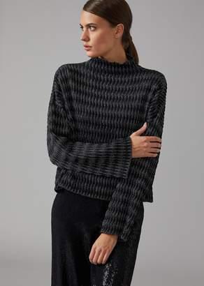 Giorgio Armani Sweater In Diamond Knit
