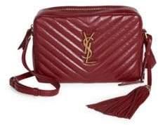 Saint Laurent Small Leather Matelasse Monogram Lou Camera Bag