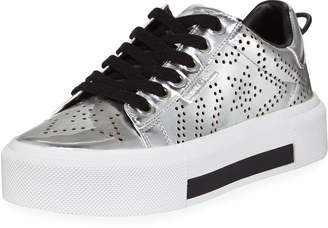 KENDALL + KYLIE Tyler8 Star Perforated Low-Top Sneakers