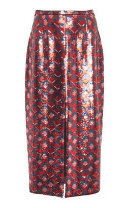 Rochas Sequin Midi Skirt