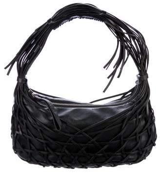 Lanvin Woven Leather Hobo