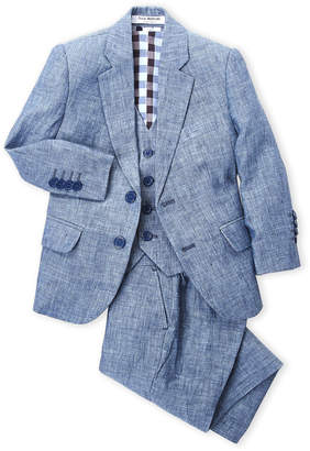 Isaac Mizrahi Toddler Boys) 3-Piece Vested Linen Suit