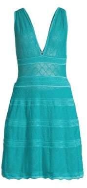 M Missoni V-Neck Knit A-Line Dress