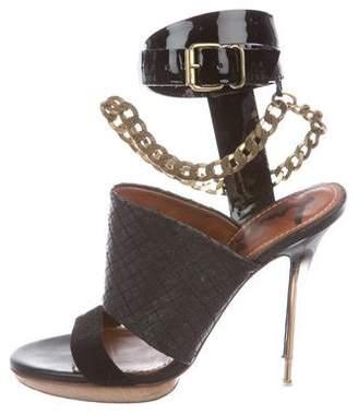 Lanvin Multistrap Chain-Embellished Sandals