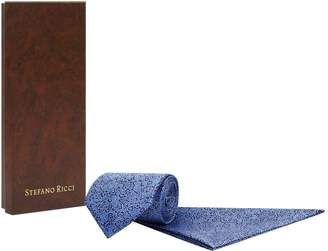 Stefano Ricci Geometric Silk Tie and Pocket Square