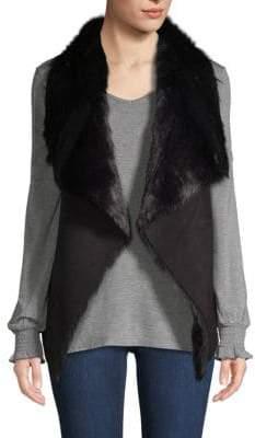 Faux-Fur Flyaway Vest