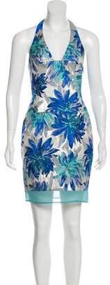 ABS by Allen Schwartz Floral Print Halter Dress w/ Tags