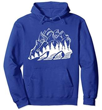 Mountain Bear Poly Abstract Wildlife White Hoodie