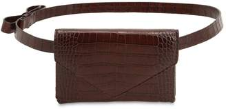 Micoli Cinta Croc Embossed Leather Belt Pack