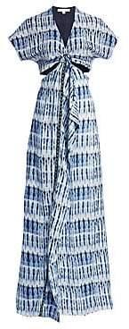 Jonathan Simkhai Women's Hawaiian Sarong-Front Dress