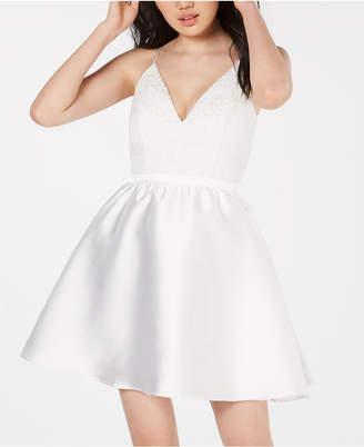fc0be8446 Emerald Sundae Juniors' Lace-Top Fit & Flare Dress