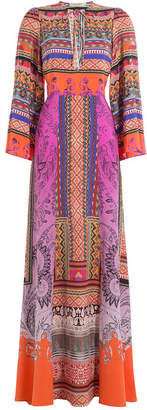 Etro Printed Silk Maxi Dress