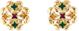 Givenchy Givenchy Cutout Enamel Clip-On Earrings