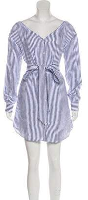 Frame Striped Mini Shirtdress
