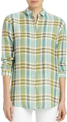 Lafayette 148 New York Sabira Linen Shirt $348 thestylecure.com