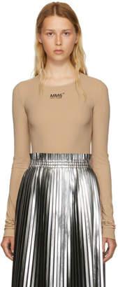Maison Margiela Beige Underneath Lycra Jersey Bodysuit