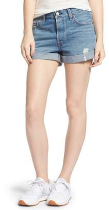 Levi's 501(R) Long Denim Shorts (Highways & Biways)