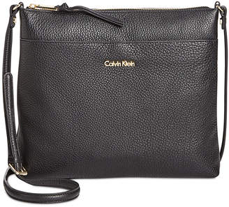 Calvin Klein Pebble Leather Lily Crossbody