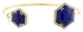 Lapis Jemma Wynne 18K & Diamond Cuff